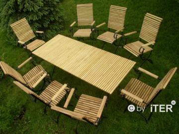 klassische gartenm bel robinienholz metall iter. Black Bedroom Furniture Sets. Home Design Ideas